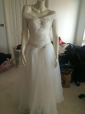 Princess Style Off Shoulder Wedding Debutante Ball Gown w/Lace Up Back