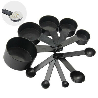 10pcs Set Plastic Measuring Cups and Spoons for Baking Tea Coffee Kitchen Tools