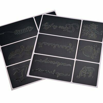 Reusable Tattoo Airbrush Stencil 108 Patterns Stencils Template Booklet B E▩