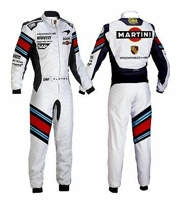 MARTINI MCLAREN Go Kart Race Suit CIK FIA Level 2 Approved with free gift Gloves