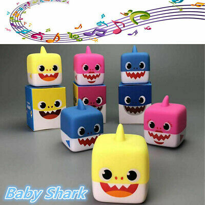 Soft Baby Shark Singing Cube Vinyl Toys Music Doll English Song Gift for Kids BD