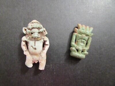 NILE  Ancient Egyptian Bes Amulets ca 600 BC