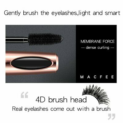 4d Silk Fiber Eyelash Mascara Thick High Elastic Silicone Brush H J⊥