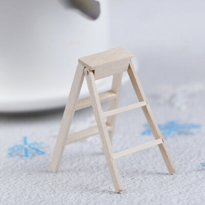 1:12 Dollhouse furniture wooden lubricious miniature doll house garden ladder DS