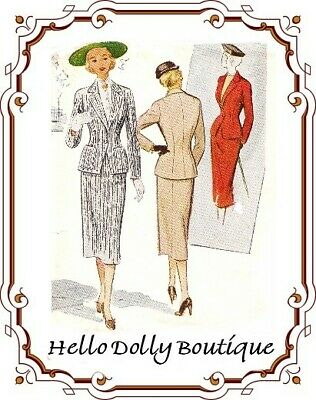8474 1951 Two Piece Suit Pattern for Fashion Dolls New