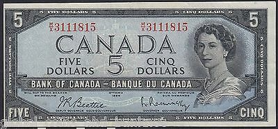 Canada -  1954 $5 Banknote nice Very Fine