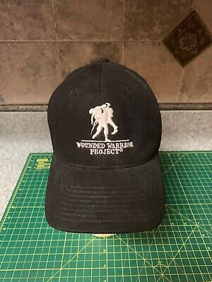 san francisco ae284 67188 Under Armour Men s black UA Wounded Warrior Project WWP Flexfit Baseball Cap