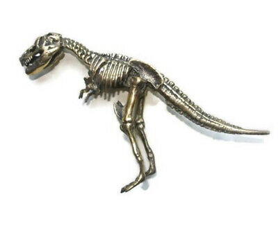 small T rex dinosaur statue 14 cm high solid heavy brass amazing desk ornament B