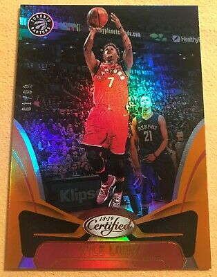 2018-19 Panini Certified KYLE LOWRY Toronto Raptors MIRROR ORANGE 61/99