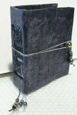 New Handmade 80Pg Silver Book/journal W/ Exposed Binding W/ Weaving & Bookmarks!