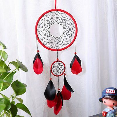Handmade Dream Catcher Circular With Feather Wall Hanging Decoration Ornament T1