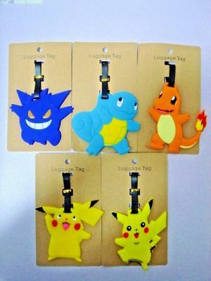 Pokemon Travel Luggage Baggage School Tag Name Address ID Suitcase Bag Label