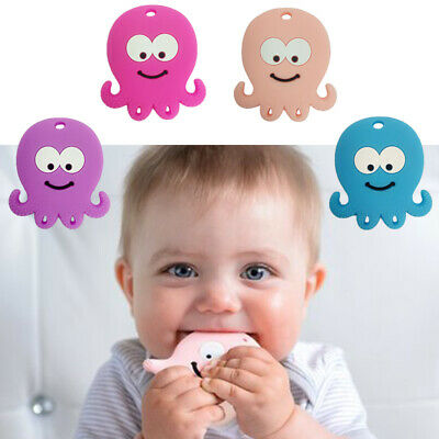 Silicone Octopus Baby Teether Toddler Teething Toy Chewing Chewable Soother Gift