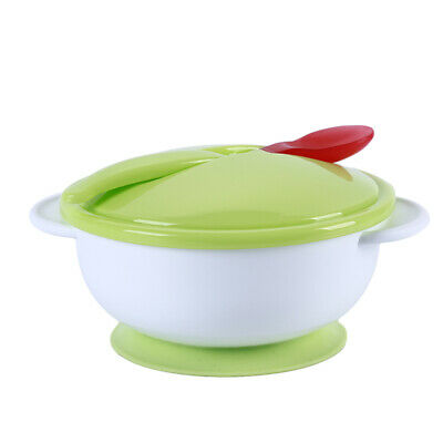 Children Ice Cream Bowl Plate Spoon Infant Food Feeding Dishes Tableware Z