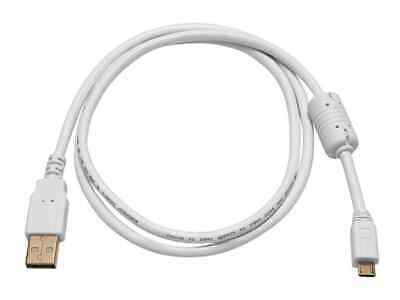 Monoprice USB-A to Micro B 2.0 Cable - 5-Pin, 28/24AWG, Gold Plated, White, 3ft