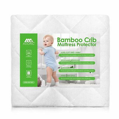 AdorioPower Baby Waterproof Crib Mattress Pad Cover Bamboo Fitted Protector New