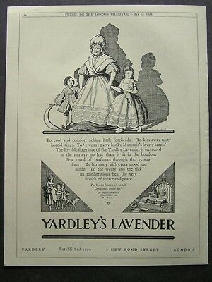 1920s advert for YARDLEY'S LAVENDER fragrance / TOOTAL sheets advertising 1929