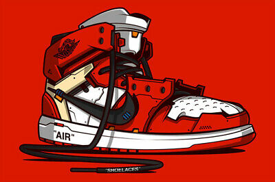 5da810fc4e5fc6 A129 Michael Jordan Shoes Air Jordan Shoes Sneaker Fashion Art Silk Poster