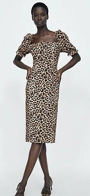 37fa80d72d0b LEOPARD ANIMAL PRINT dress Zara - $45.00 | PicClick