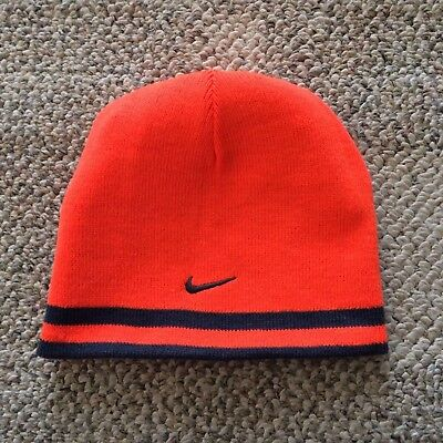4680d97e416 Youth Boys Size 8 20 Nike Stretch Knit Winter Beanie Reversible Hat Blue  Orange