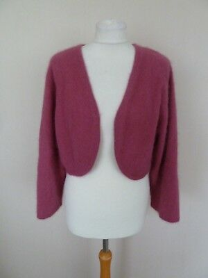 FAB Monsoon Rose Pink Fluffy Angora Bolero Shrug Cardigan Plus Size 22 BNWT