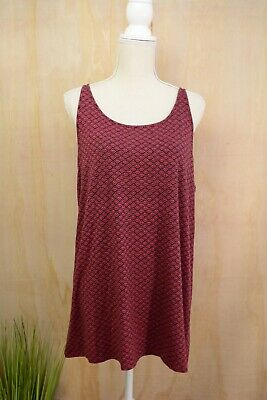 85f1c8a1a4e J.Jill WEAREVER Collection - Dark pink   black rayon sleeveless tank  blouse