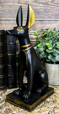 "Ancient Egyptian Anubis Dog Statue 9""H God Of The Afterlife Embalming And Mummy"