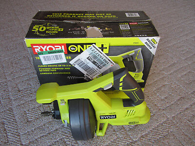 Ryobi 18V Drain Auger Model #p4001 Power Tool Only Drain Cleaning