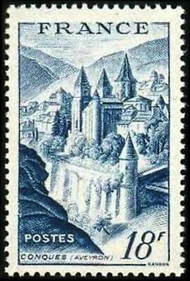 """France Timbre Stamp N° 805 """" Abbaye De Conques 18F """" Neuf Xx Ttb"""
