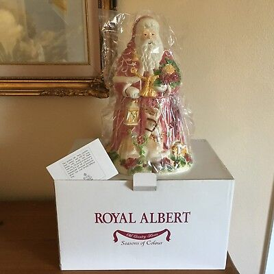 Royal Albert 2002 Seasons of Colour Santa Cookie Jar New in Box