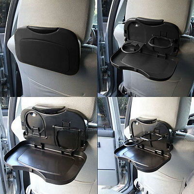 NEW Folding Auto Car Back Seat Table Drink Food Cup Tray Holder Stand Desk 2FKOX