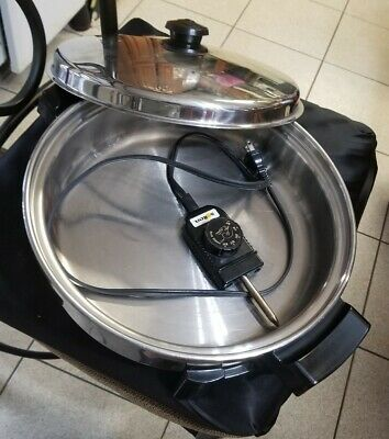 "Saladmaster Electric Skillet 7256, Stainless Steel 12"" w/Vapo Lid, Liquid Core"