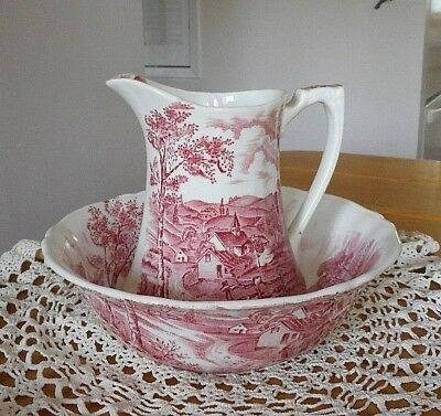 Vintage Alfred Meakin Reverie Pitcher And Bowl Set ~ Gorgeous!