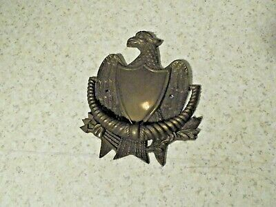 Vintage Solid Brass Eagle Door Knocker With Shield