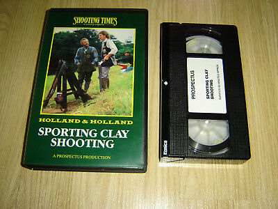 Shooting Times Holland & Holland Sporting Clay Shooting Rare Vhs Video Tape