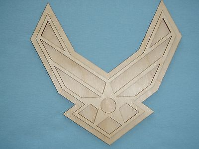 Custom Order  Air Force Badge Unfinished USAF Wood Cutout Artistic Craft Supply