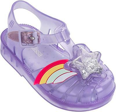 9dfee445441190 NEW MINI MELISSA Possession II Rainbow Star Purple Sandals Size 10  AUTHENTIC -  49.99