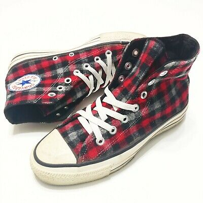 e6a2bfc3dc6a Converse Flannel All Star Chuck Taylor Wool Flannel Plaid Vintage 1990s 4.5