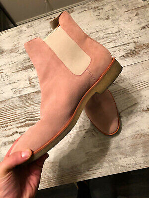 d7ffe0c4046 New Republic Mark McNairy Houston Chelsea Boots Size 12 Men s PINK Suede