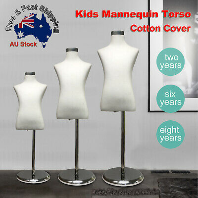 Adjustable Cotton Cover Child Form Mannequin Torso Iron Stand Dummy Model Kids L