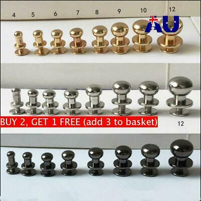 Nail Round Monk Head Screws Garment Rivets Clothes/Bag/Shoes Leather Craft