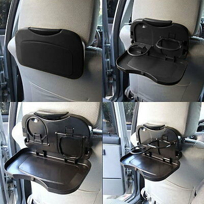 Folding Auto Car Back Seat Table Drink Food Cup Tray Holder Stand Q9