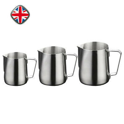 Stainless Steel Milk Frothing Jug Mug Cup Coffee Latte Pitcher 360/600/1000ml