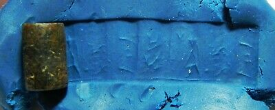 ZURQIEH -as11105- ANCIENT HOLY LAND. STONE CYLINDER SEAL. 1ST MILL. B.C
