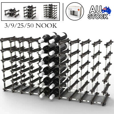 3 NOOK Wine Rack 6 Bottles Metal Storage DIY Organiser Stand Cellar Display