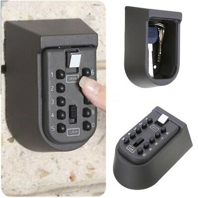 Home Security Wall Mount Outdoor Combination Keys Safe Storage Box Lock Car Door