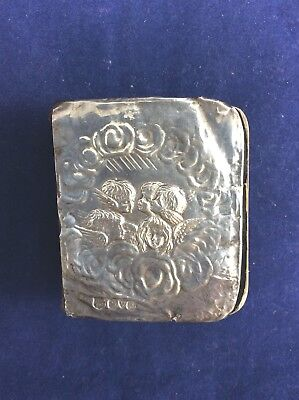 Antique 1909 Sterling Silver Angels Cover Prayer Book Fully Hallmarked Chester