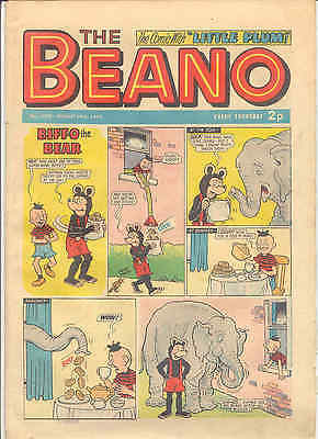 THE BEANO No 1570 AUGUST 19 1972  VERY GOOD TO EXCELLENT  CONDITION