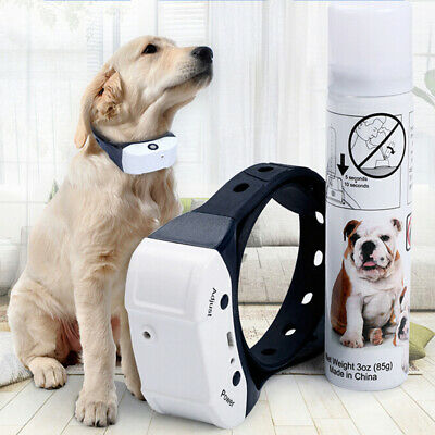 Stop Barking Citronella Rechargeable Dog Collar Anti Bark Pet Train Mist Spray