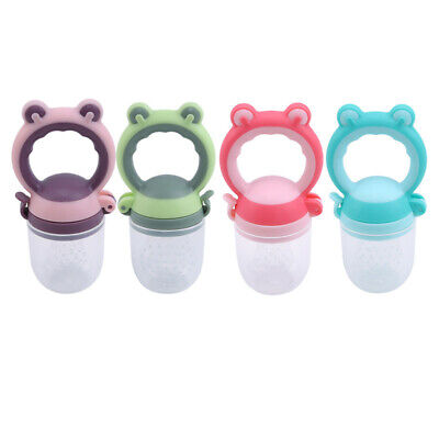 Baby Frog Head Pacifier Dummy Nipple Fruit Food Bite Teether Feeder Supplies Z